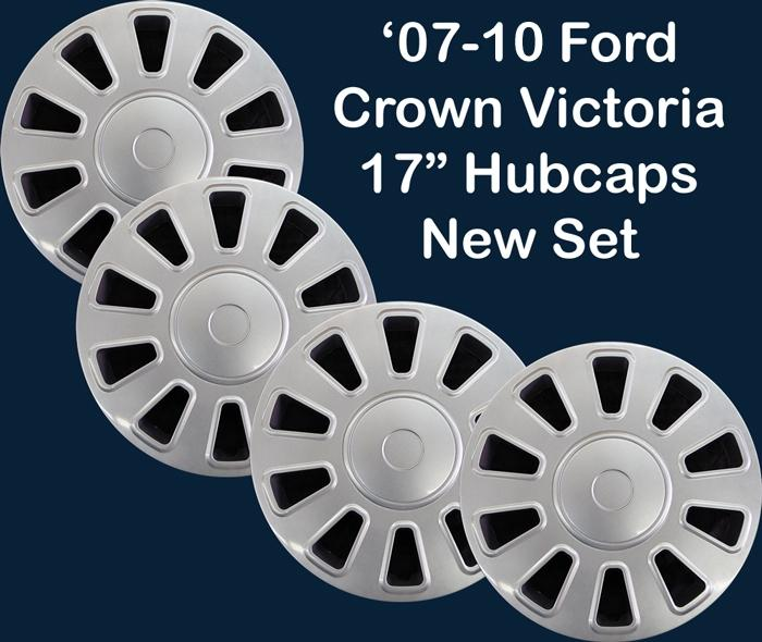 17 Ford Crown Victoria Police Car Silver Hubcaps New