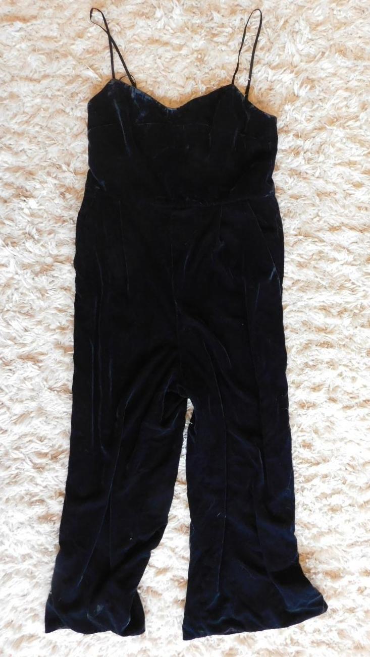 cde796af35a1 JCrew Cropped Velvet Jumpsuit  138 H2658 6 black party cocktail pants party