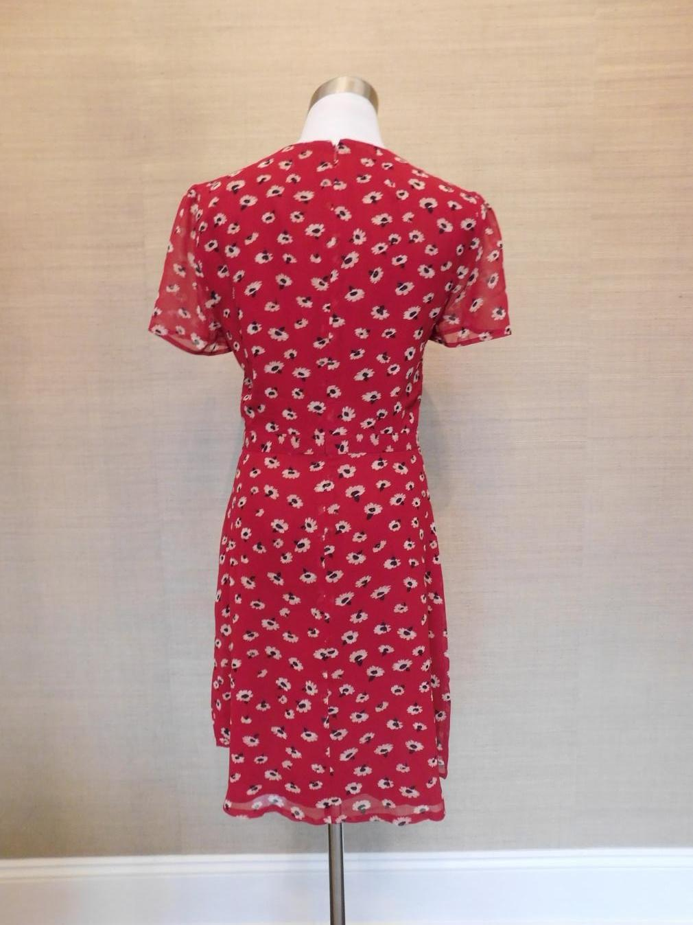 136a1cc657e Details about NEW  148 Madewell Wrap-Front Mini Dress in Seattle Floral  Size 14 G8410  SNAG