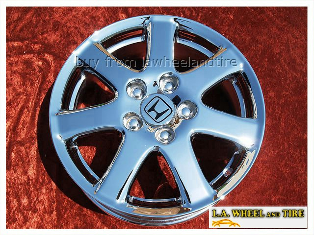 Honda Factory Rims >> Details About Set Of 4 Chrome 16 For Honda Accord Oem Factory Wheels Rims Civic Prelude 64000