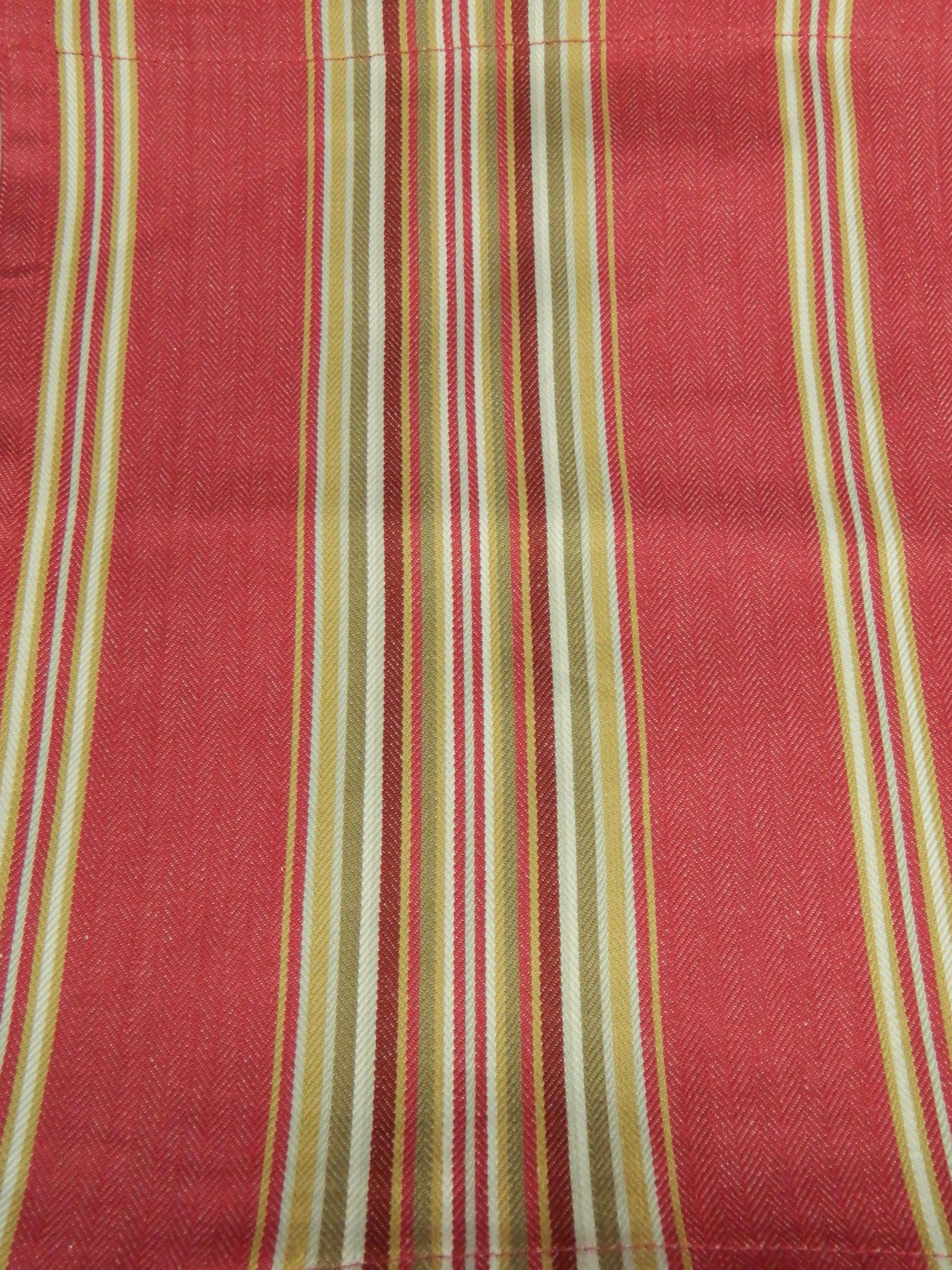 2 Pottery Barn Hudson French Red Stripe 44 X 13 Cafe Tie