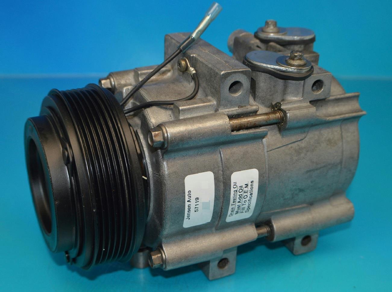 One Year Warranty Reman 57119 AC Compressor fits 2002-2005 Kia Sedona