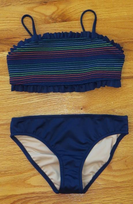 d0af15225d1eb JCrew Crewcuts Girls Smocked Bikini Set Swimsuit H7522  50 Navy Multi 8