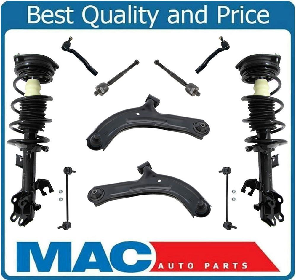100/% New Front Lower Control Arms Rods /& Links Kit For 07-11 Versa /& 09-14 Cube