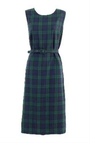 0c7bf04e6b6 J Crew Women s Blackwatch Plaid Sheath Belted Tartan Wool Blend Dress 4  H4882