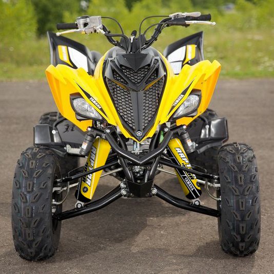 Yellow /& Grey Shock Covers Yamaha Raptor YFM 700 R *Special Edition* Set of 3