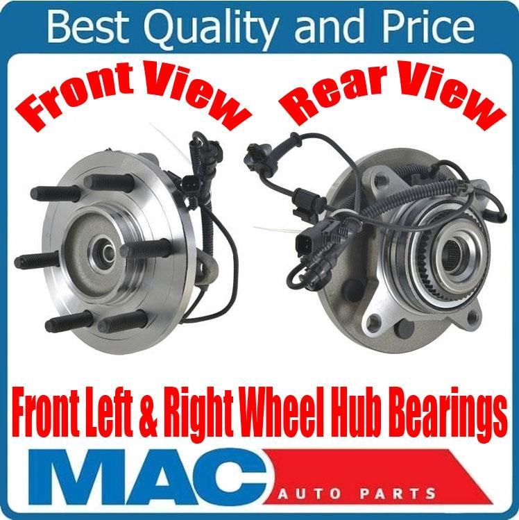 ONE 100/% New Front Wheel Hub Bearing Ford F-150 Raptor 6.2L 4x4 SVT 2011-2014