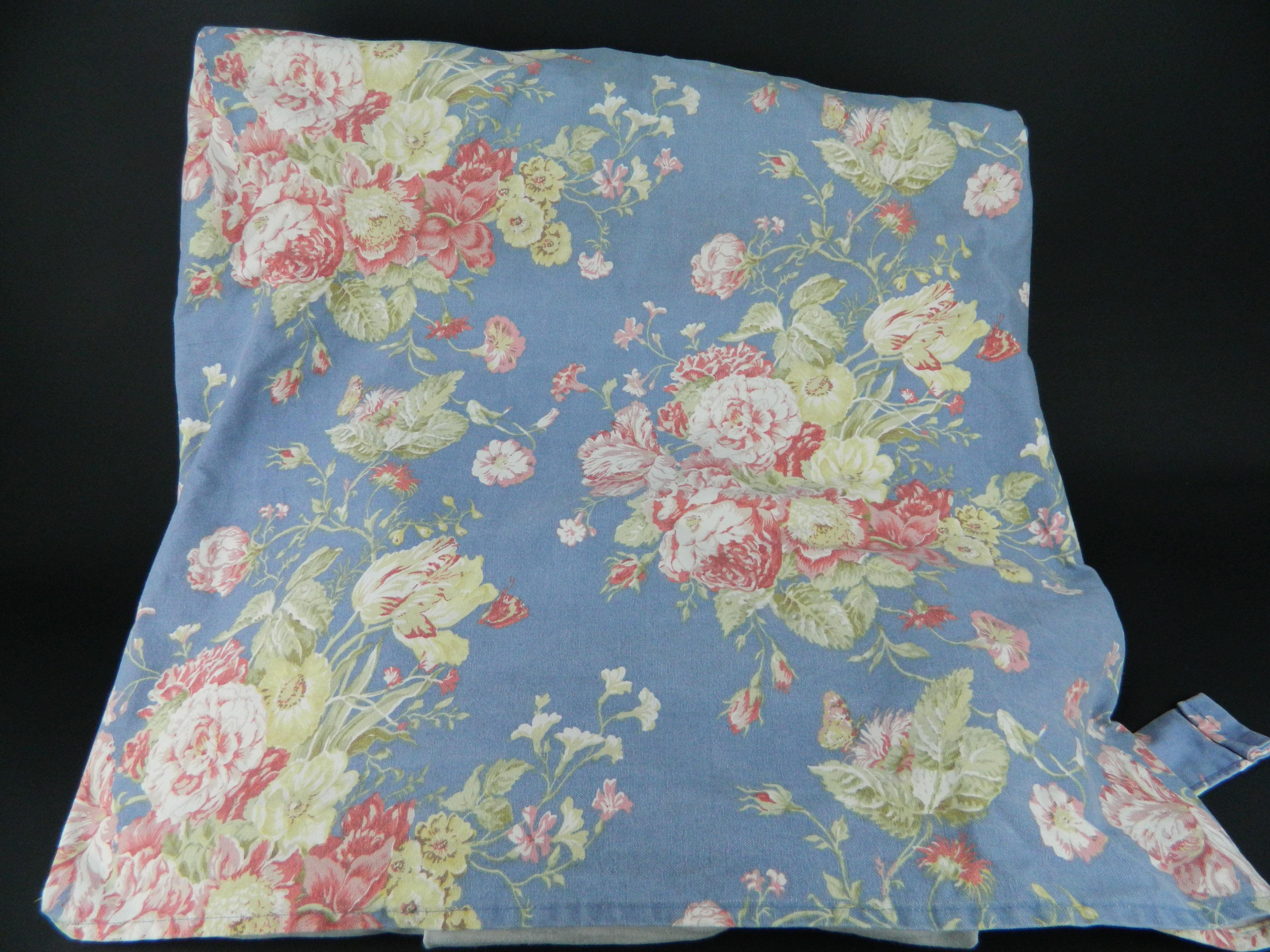 Fine Details About Sure Fit Waverly Masterpiece Blue Pink Floral Loveseat Slipcover 100 Cotton Theyellowbook Wood Chair Design Ideas Theyellowbookinfo