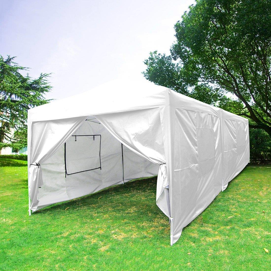 Quictent 10x20 Ft Ez Pop Up Canopy Party Tent With Sides