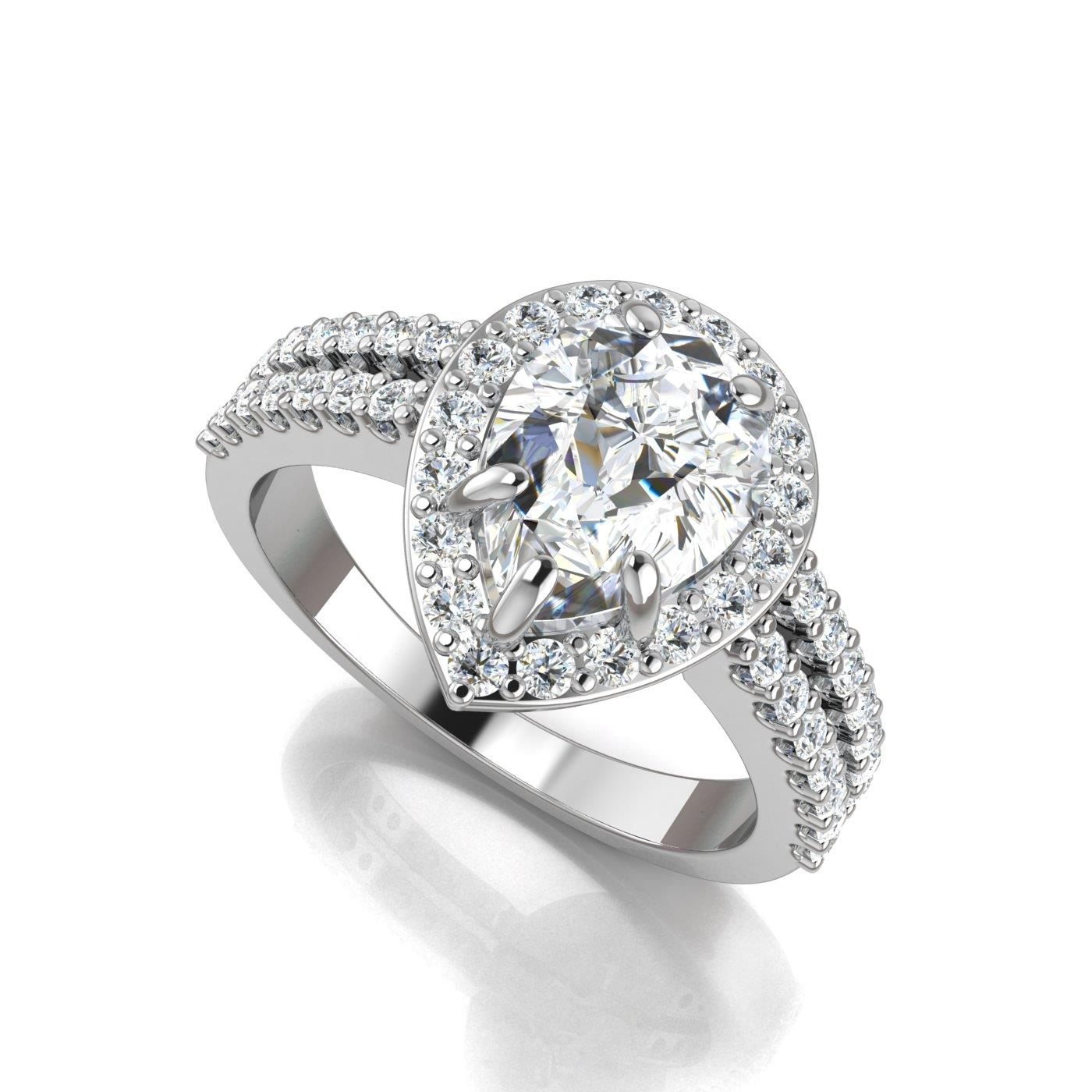 platinum p tw in shank diamond pav ct engagement split ring rings eternal pave