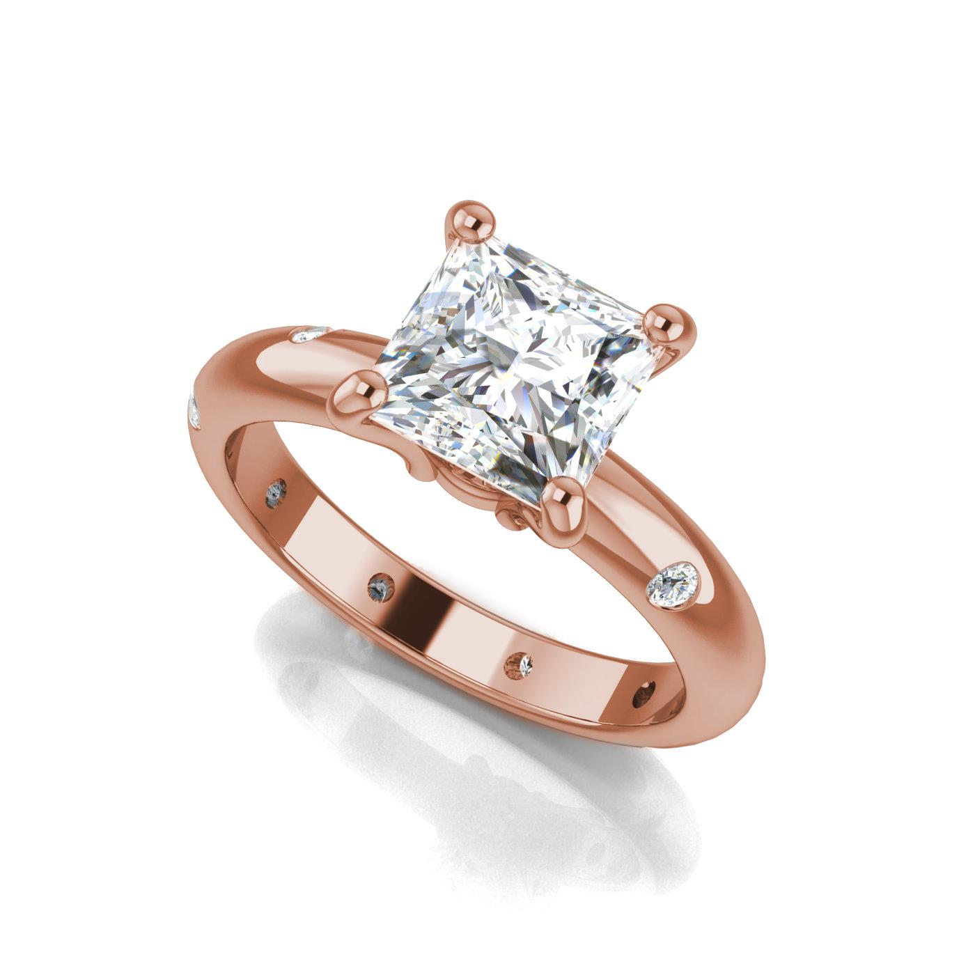 sleek ring in princess engagement g rings white jewellery setting h vs cut gold invisible set diamond