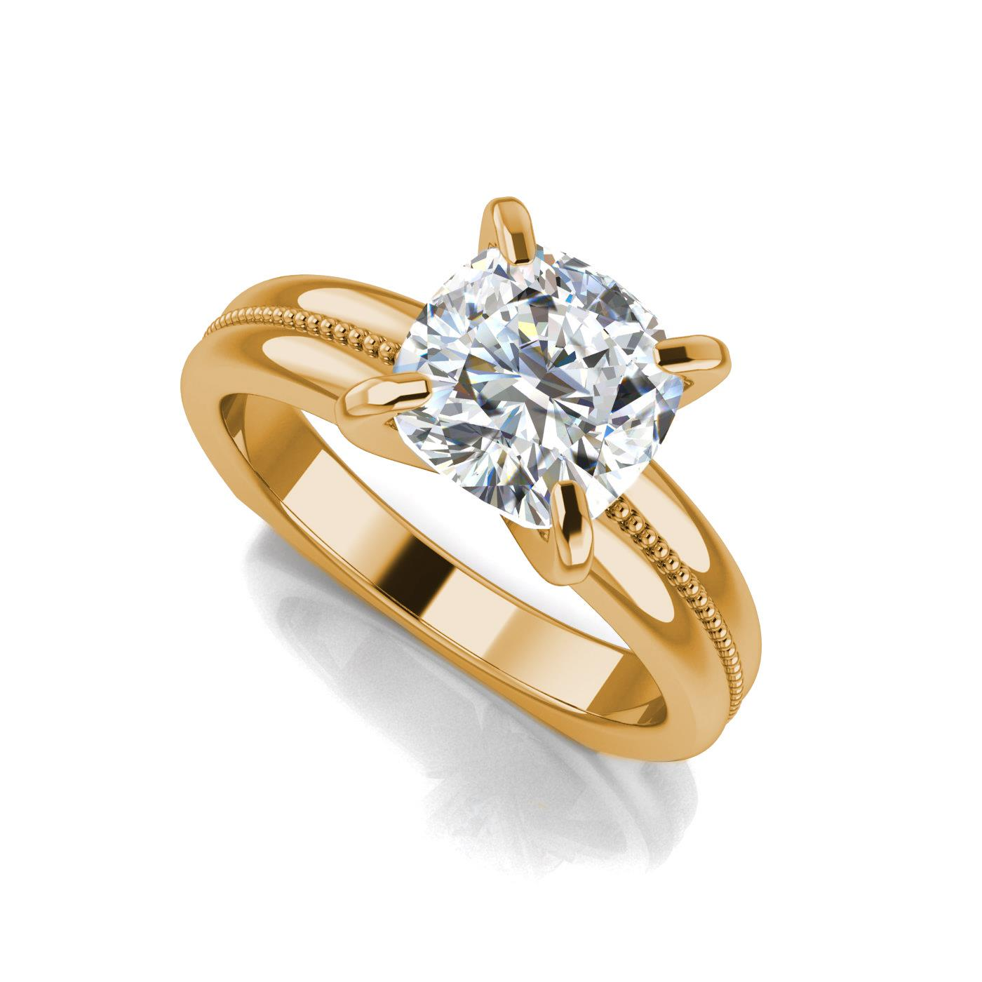 halo h carat cushion si ring cut engagement diamond gold white g