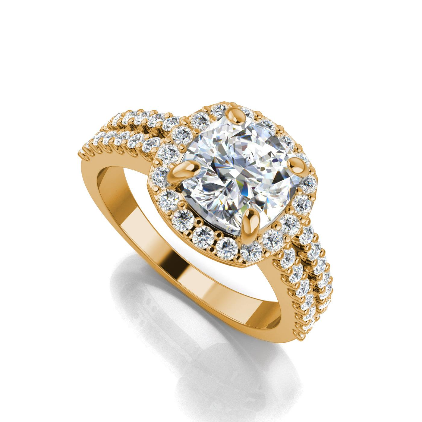 cusion gold cut cushion nuha halo products jewelers diamond ring