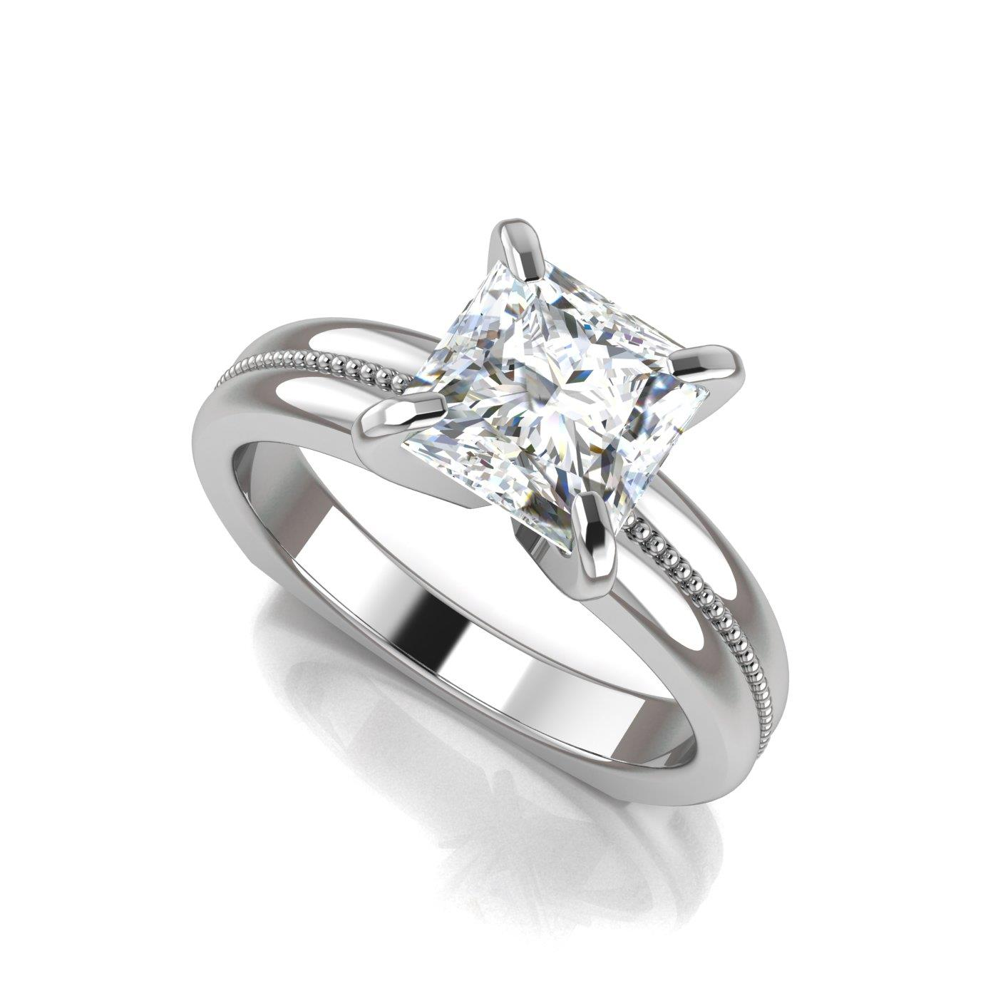 ring lotus rings solitaire diamond product engagement
