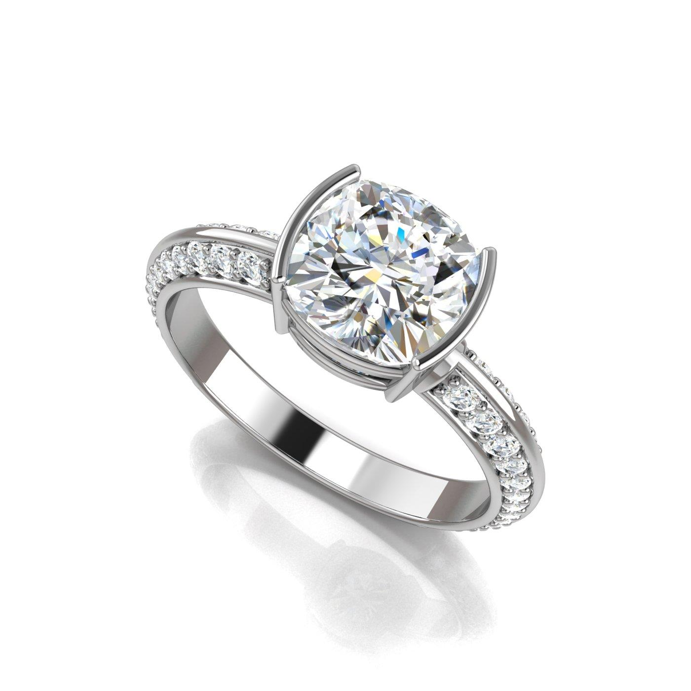 diamond jewellery engagement diamonds collections products ring halo wave double rings sea row cushion cut
