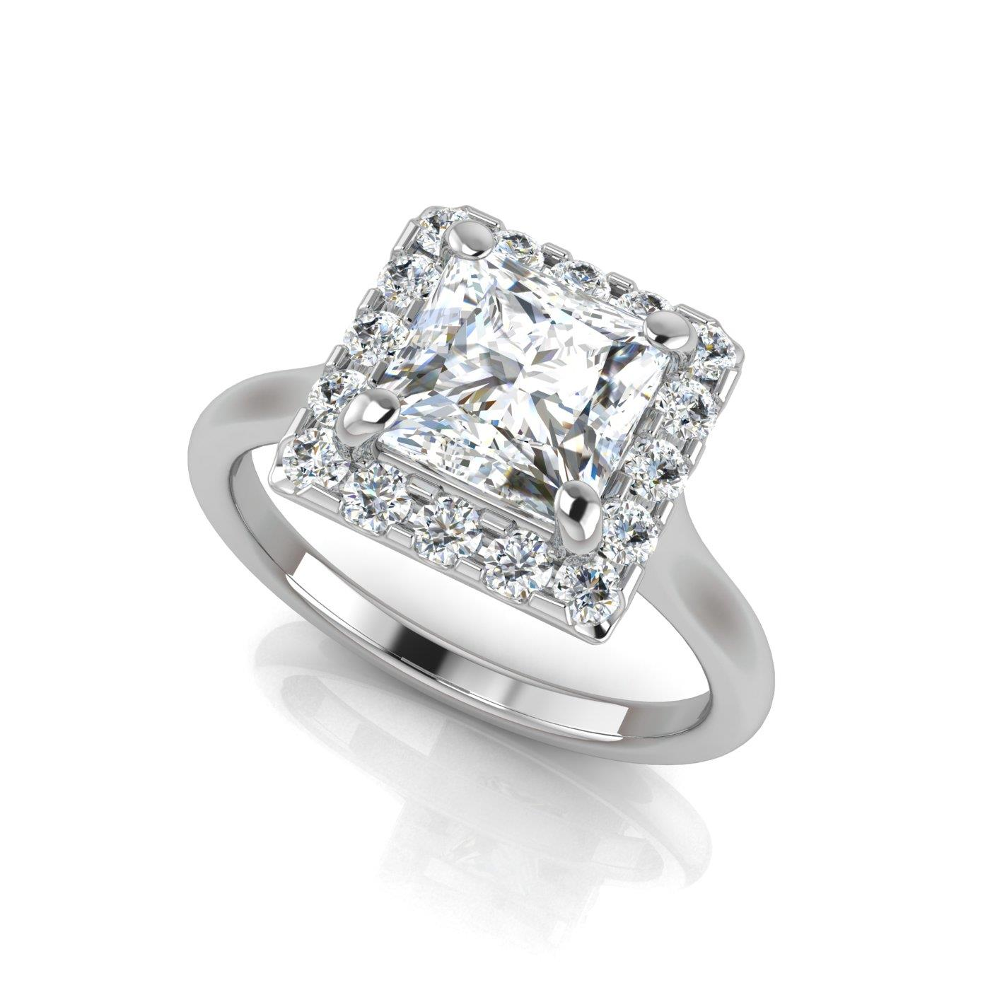 engagement wheat cut jewellery platinum frame princess design white with rings petite and in ring beaded diamond
