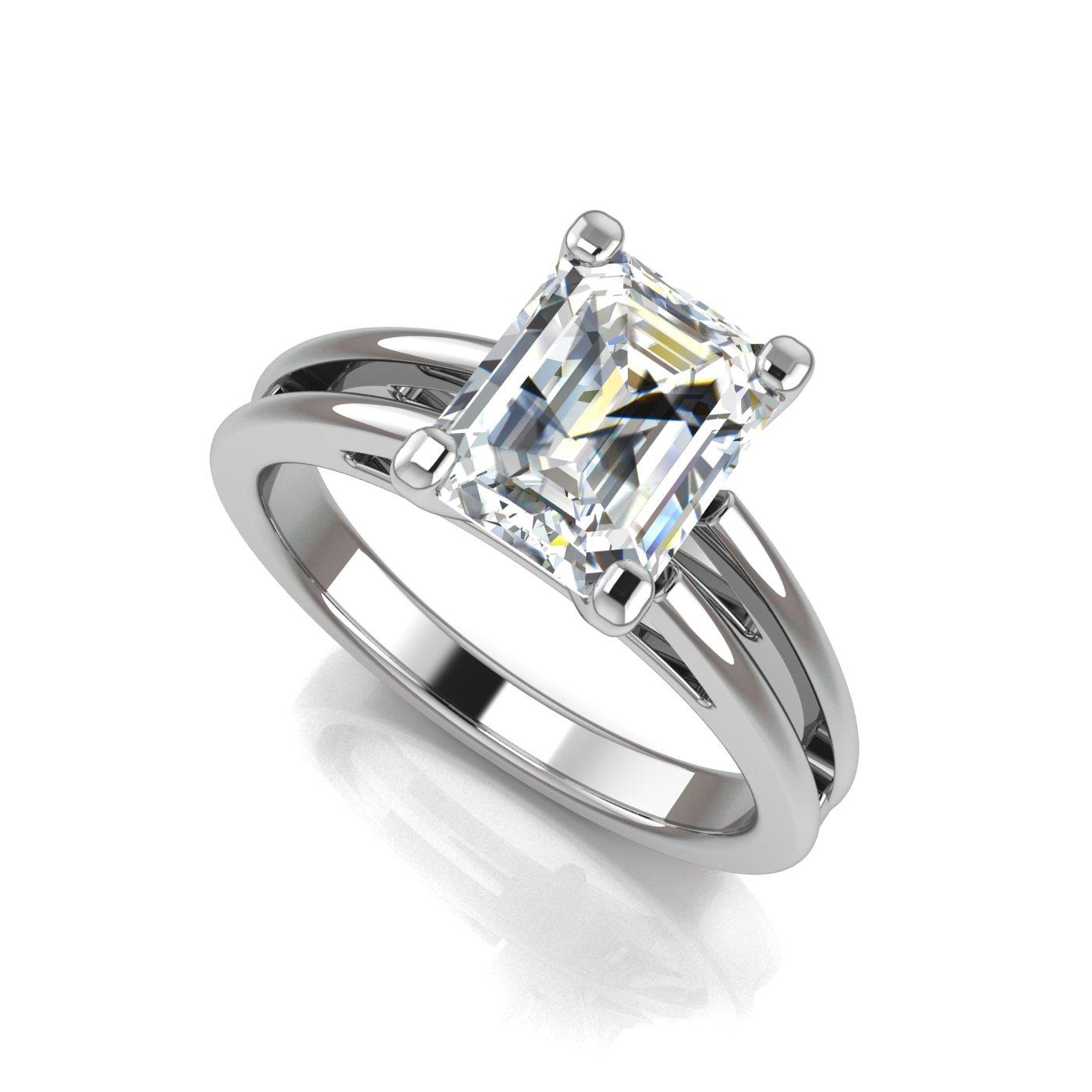 side rings engagement with ring diamond prong classic cut