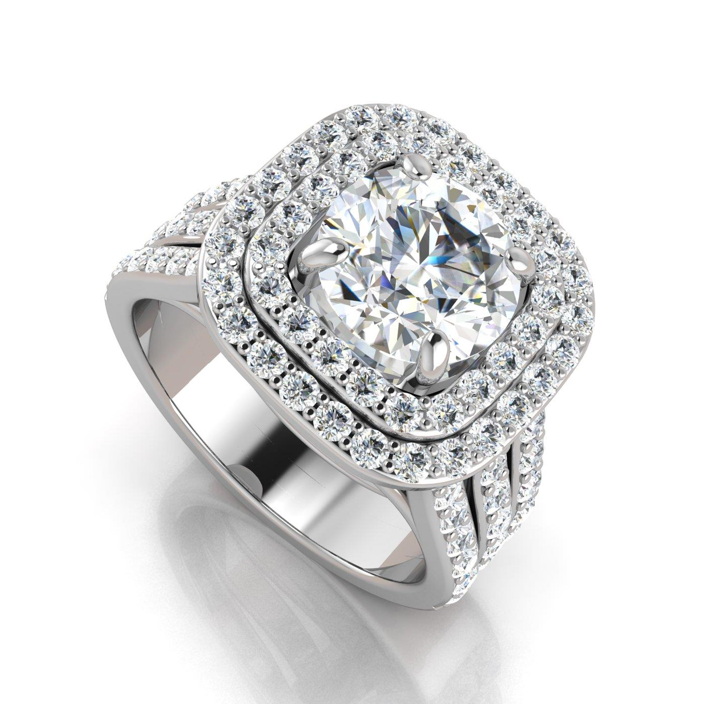 double a by halo cushion diamond house jaffe alexis classic metropolitan engagement ring rings product