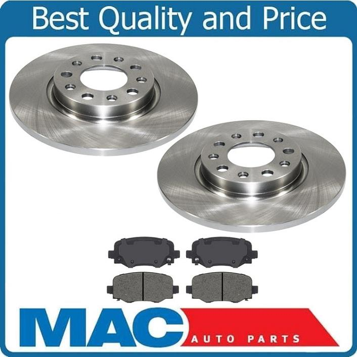 14 15 16 Fit Jeep Cherokee OE Replacement Rotors w//Ceramic Pads F