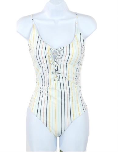 3f31de3e7472 Tavik Madewell Monahan Lace-up One-piece Swimsuit Horizon Stripe Sz ...