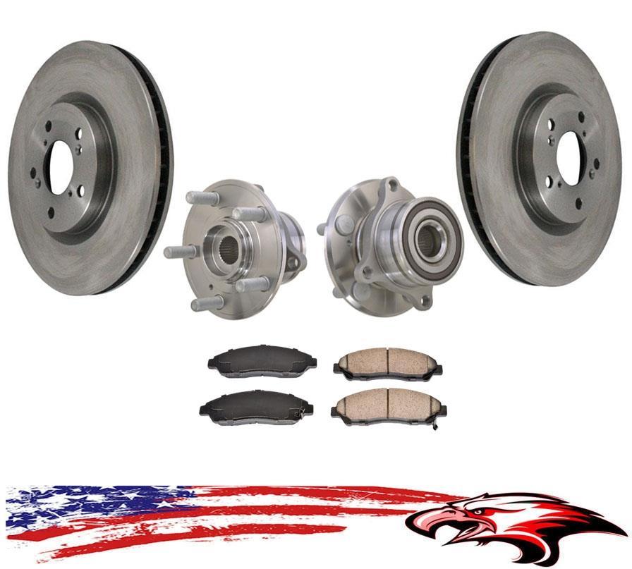 Frt /& Rr Brake Disc Rotors /& Ceramic Disc Brake Pads Fits 13-15 Pathfinder 3.5L
