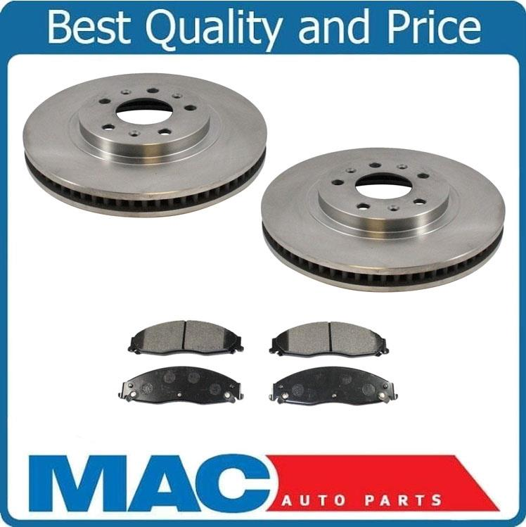 for 03-07 Cadillac CTS FE1 Rear Brake Rotors /& Brake Ceramic Pads