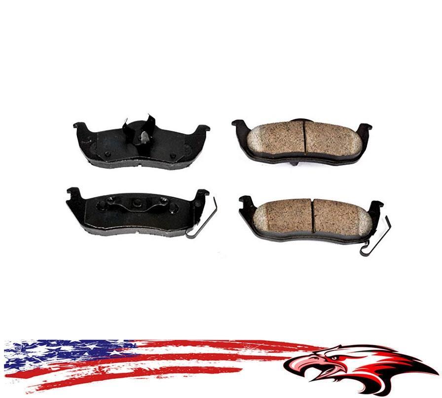 Front Rear Ceramic Brake Pads For eep Commander Grand Cherokee 2005 2006-2010